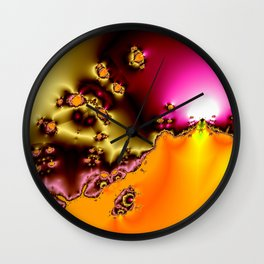 glowing frogs in pool Wall Clock