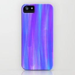 Moonlight Blue Purple and Fuschia Watercolor iPhone Case