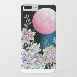 succulent full moon 3 iPhone Case