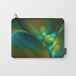 The Protector, Abstract Fractal Art Carry-All Pouch