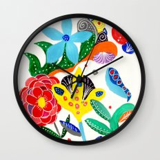Dreaming in the garden Wall Clock