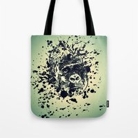 monkey Tote Bags featuring Monkey by WonderfulDreamPicture