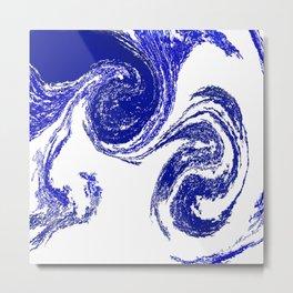 Rolling Blue Metal Print