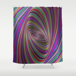 Psychedelic colors Shower Curtain