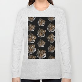 wild safari jungle animal tiger head Long Sleeve T-shirt