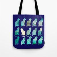 mineral Tote Bags featuring MINERAL CATTERN by Catspaws