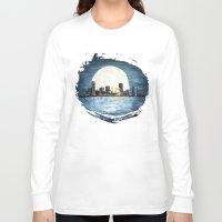 milwaukee Long Sleeve T-shirts featuring Milwaukee Night by Kristiekoz