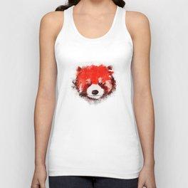 Red Panda (White) Unisex Tank Top