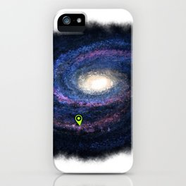 We are here purple iPhone Case