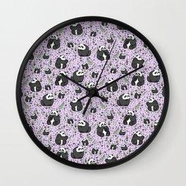 Cute Pandas Wall Clock