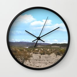 Landscape & Blue Sky Wall Clock
