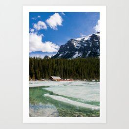 Canoeing in the Mountains Art Print