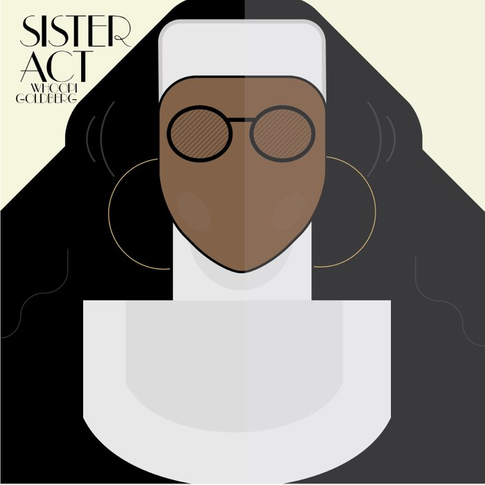 Sister Act, minimal Movie Poster, classic comedy film, funny, Whoopi Golberg, american cinema Comforters
