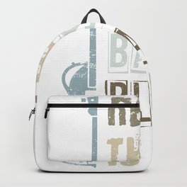 Bass Guitar Player Bassist Backpack