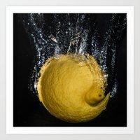 Lemon Splash Art Print