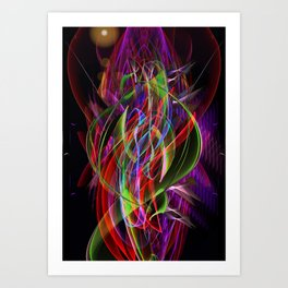 Art Deco Swirl Art Print