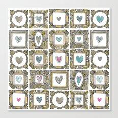 love heart frames Canvas Print