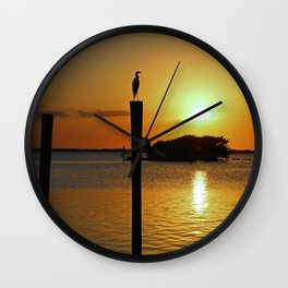 Until the Lights Flickered Out Wall Clock