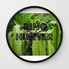 Dino Hunter Wall Clock