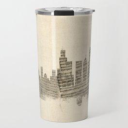 Chicago Illinois Skyline Sheet Music Cityscape Travel Mug