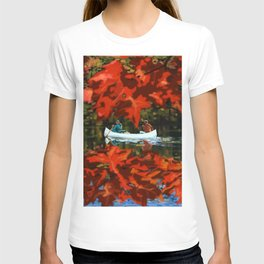 Autumn canoeing T-shirt