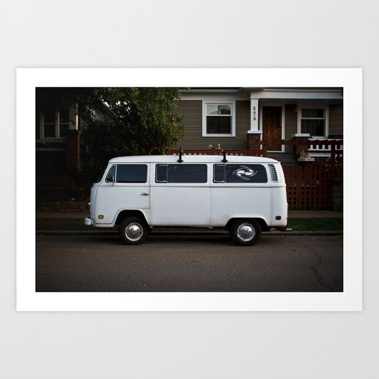 side streets in white Art Print