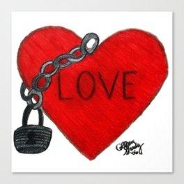 Love on Lockdown Canvas Print