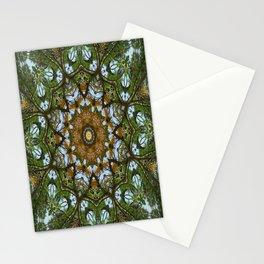 Yellow Tree Flower Kaleidoscope Art 5 Stationery Cards