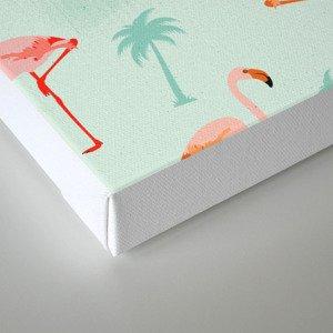 Vintage Flamingos Canvas Print