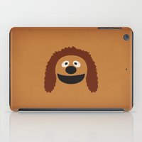 muppets iPad Cases featuring The Muppets Show Vintage Art Rowl the Dog Retro Style Minimalist Poster Print by The Retro Inc