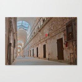 Abandoned Prison Corridor Canvas Print