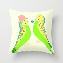 Feather Friends Throw Pillow