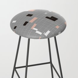 Square abstract Bar Stool