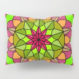 Peace and Love Mandala Pillow Sham
