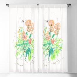 Flower flower Blackout Curtain