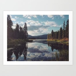 A Serene Lake in Washington Art Print