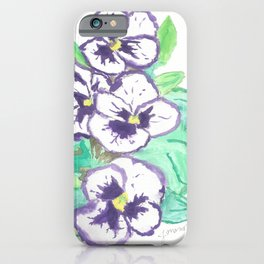 Purple Pansy Power iPhone Case