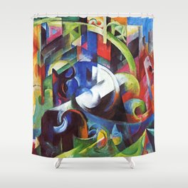 "Franz Marc ""Cattle (Rinder)"" Shower Curtain"