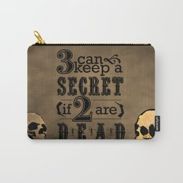 Benjamin Franklin Illustrated Quote Carry-All Pouch