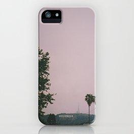 Rainy Hollywood - a rare sight iPhone Case