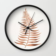 Palm Leaf – Rose Gold Wall Clock