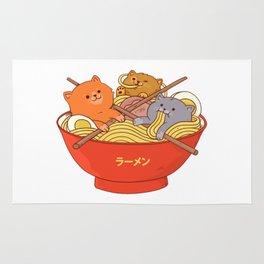 Ramen and cats Rug