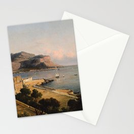 George Loring Brown - Monte Pellegrino at Palermo, Italy Stationery Cards