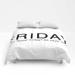 """Black"" Friday Comforters"