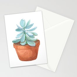 Succulent in the pot Stationery Cards