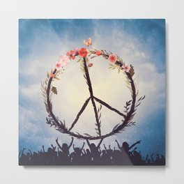 Music and Peace Metal Print