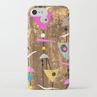 50s iPhone & iPod Cases featuring Retro Fantasy 50s Brown Pink by Beatrice Roberts