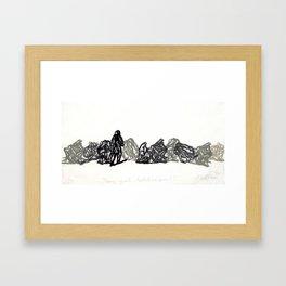 Primer apunte hablativo (opción 1) Framed Art Print