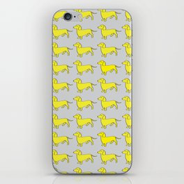 Doxie Love - Grey and Yellow iPhone Skin