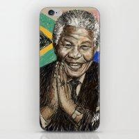 mandela iPhone & iPod Skins featuring MANDELA by Stan Kwong